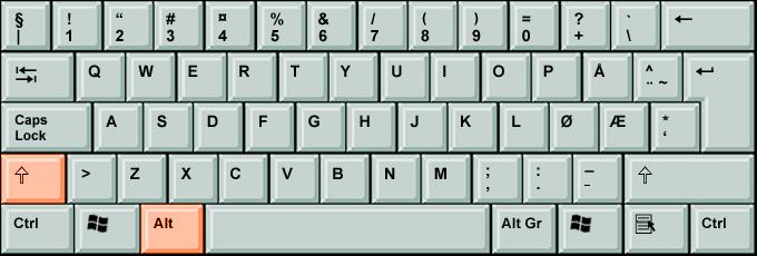 lygu zenklas klaviaturoje